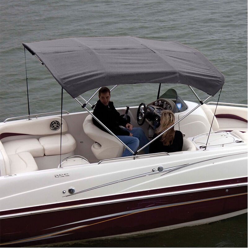"""Shademate Polyester 4-Bow Bimini Top Fabric, 8'L x 54""""H, 61""""-66"""" Wide FABRIC ONLY image number 4"""