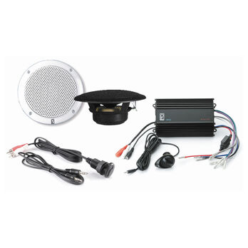Poly-Planar MP3-KIT4-B MP3 Kit With Amplifier And Speakers