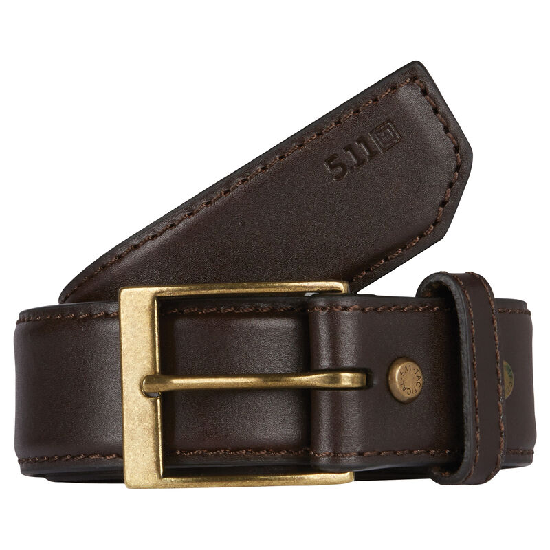 """5.11 Tactical Men's 1.5"""" Leather Casual Belt image number 1"""