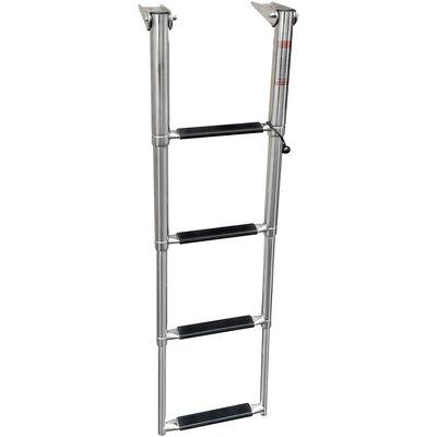 Overton's Top Mounted 4 Step Stainless Steel Folding Swim Platform Ladder