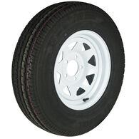 Trailer King II ST175/80 R 13 Radial Trailer Tire, 5-Lug White Spoke Rim