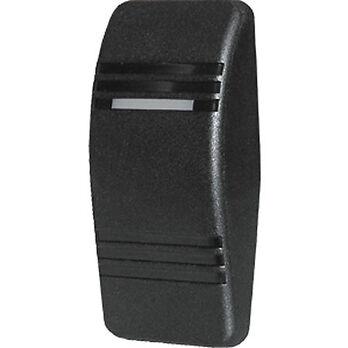 Blue Sea Contura Rocker Switch Actuator with 2 LED Indicator Lights, black