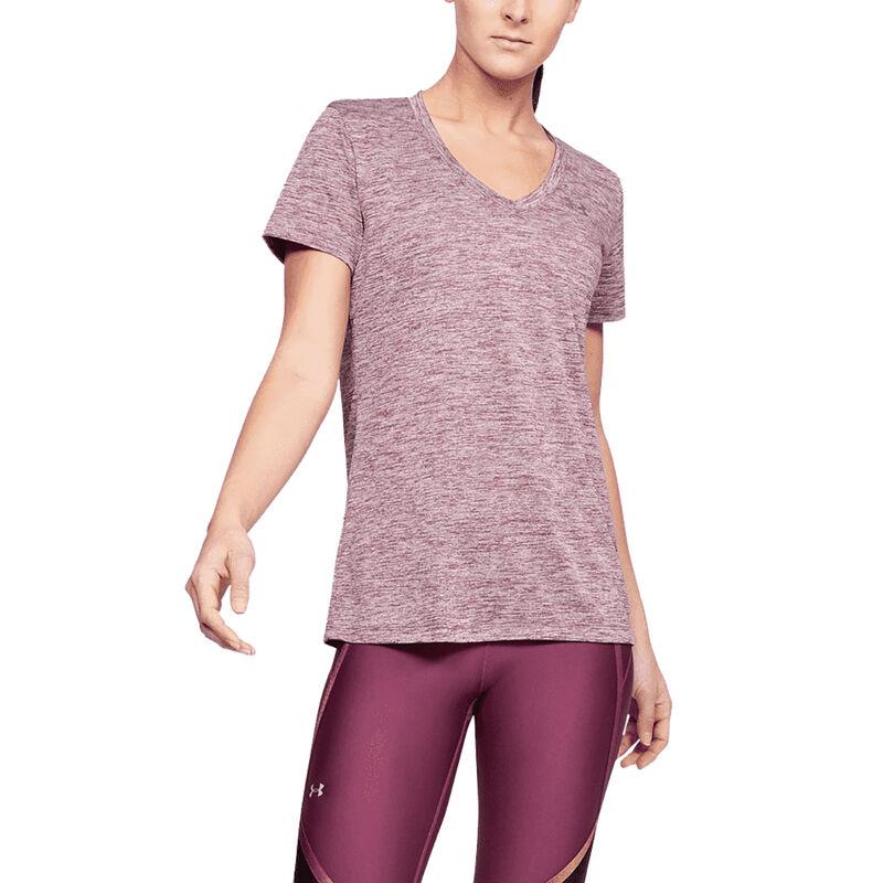 Under Armour Women's UA Tech Twist Short-Sleeve V-Neck Tee image number 6