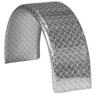 "Smith Round Trailer Aluminum Tread Plate Fender for 14"" Tire"