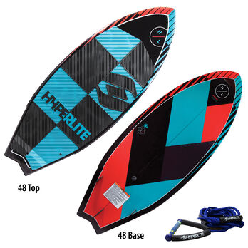 Hyperlite Broadcast Wakesurfer With Rope And Handle
