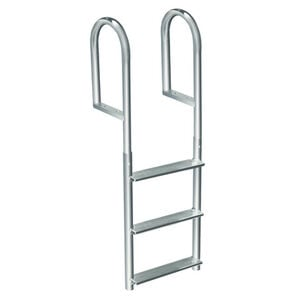 International Dock Wide-Step Stationary Dock Ladder, 3-Step