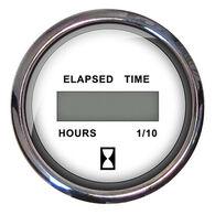 "Faria 2"" Euro Digital Hourmeter, White"