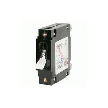 Blue Sea Circuit Breaker C-Series Toggle Switch, Single Pole, 30A, White