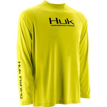 Huk Men's Performance Raglan Solid Long-Sleeve Tee