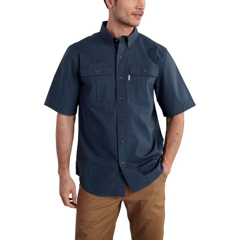Carhartt Men's Foreman Solid Short-Sleeve Work Shirt image number 2