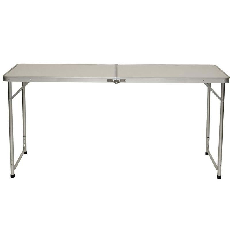 Fold 'N Half Aluminum Table, 5' image number 1