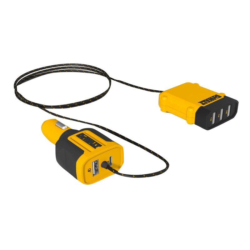 Dewalt 5-Port Front/Back Seat Mobile USB PD Charger image number 1