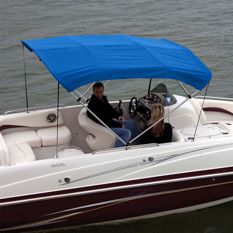 """Shademate Polyester 4-Bow Bimini Top Fabric, 8'L x 54""""H, 61""""-66"""" Wide FABRIC ONLY image number 2"""