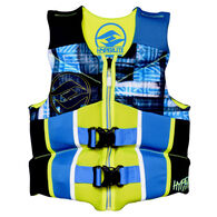 Hyperlite Pro V Youth Life Jacket, Blue/Green