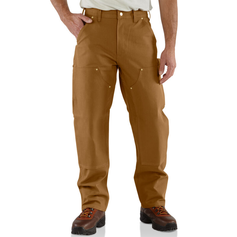 Carhartt Men's Firm Duck Double-Front Work Dungaree Pant image number 3