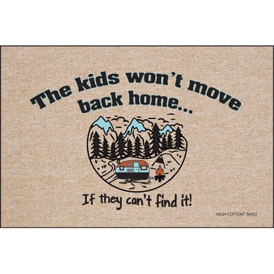 """High Cotton """"The Kids Won't Move Back"""" Doormat, 18"""" x 27"""""""