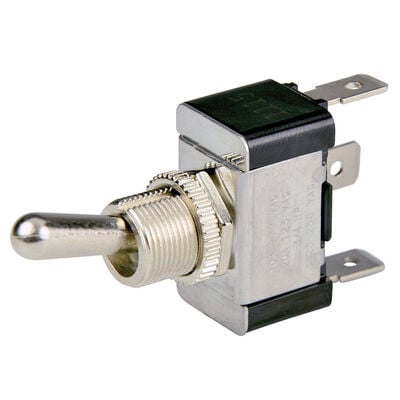 BEP SPDT Chrome Plated Toggle Swith, On/Off/On