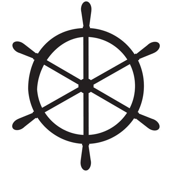 Ship's Wheel Vinyl Decal