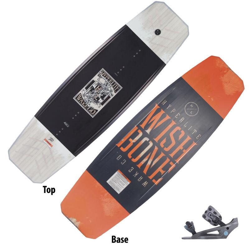 Hyperlite Wishbone Wakeboard With System Lowback Bindings image number 1