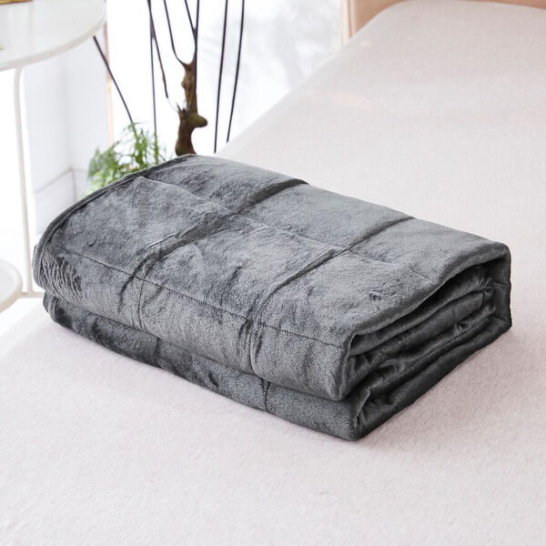 """Bon Voyage 5-lb. Reversible Weighted Travel Throw, 40"""" x 50"""", Gray"""