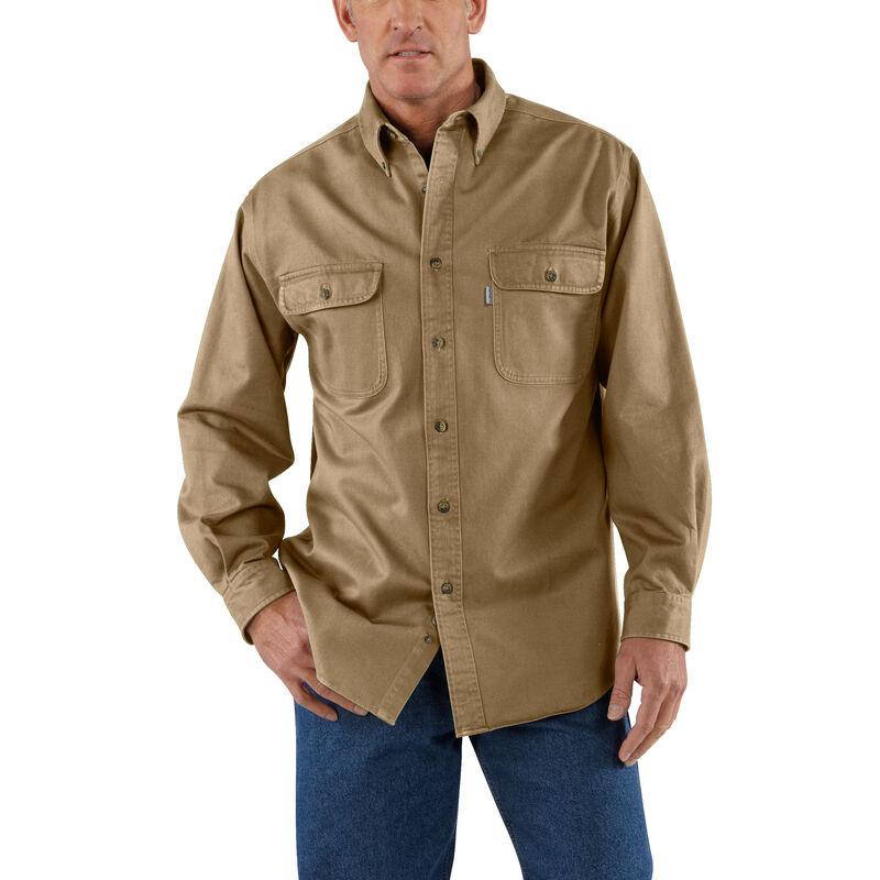 Carhartt Men's Sandstone Twill Long-Sleeve Shirt image number 1
