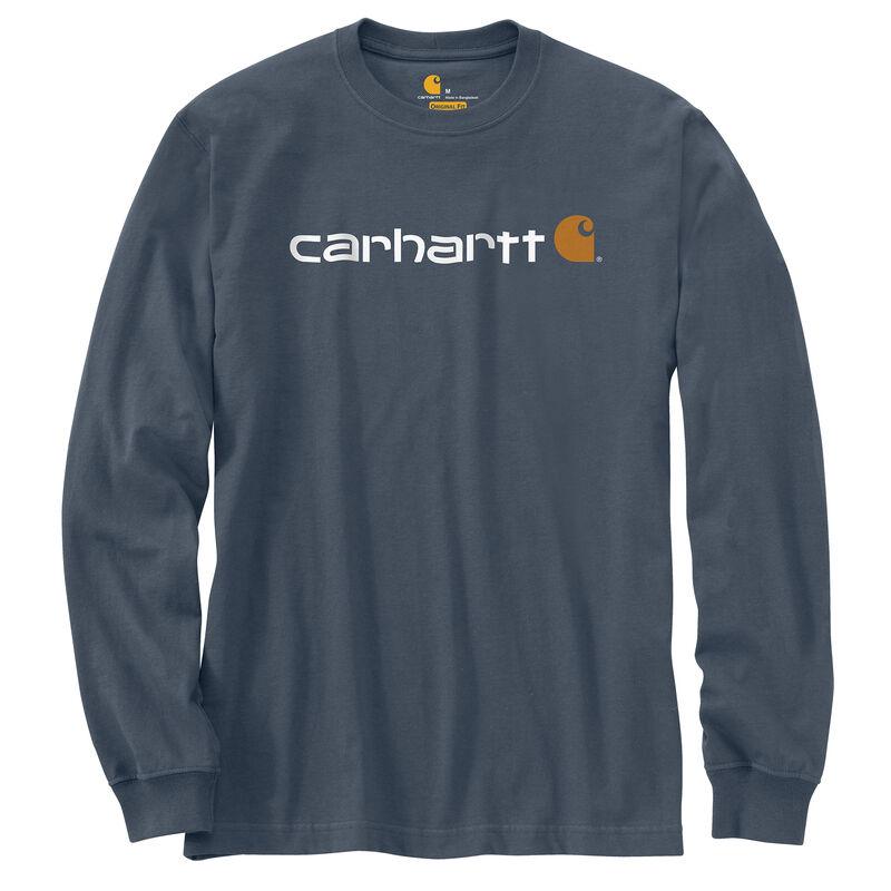 Carhartt Men's Long-Sleeve Logo Tee image number 4