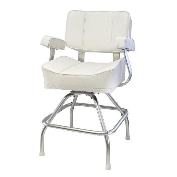 Springfield Deluxe Captain's Chair And Stand Package, White