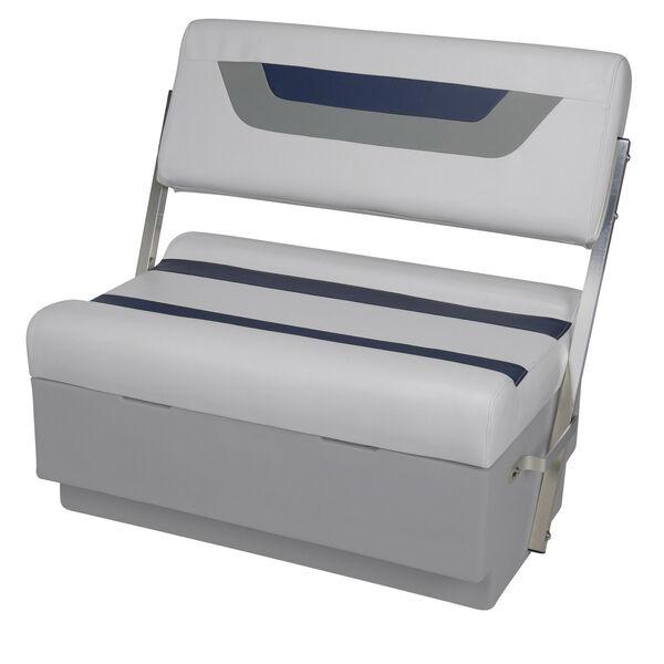 Toonmate Designer Pontoon Flip-Flop Seat, Sky Gray