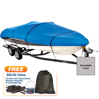 "Covermate Imperial Pro V-Hull I/O Boat Cover, 18'5"" max. length"
