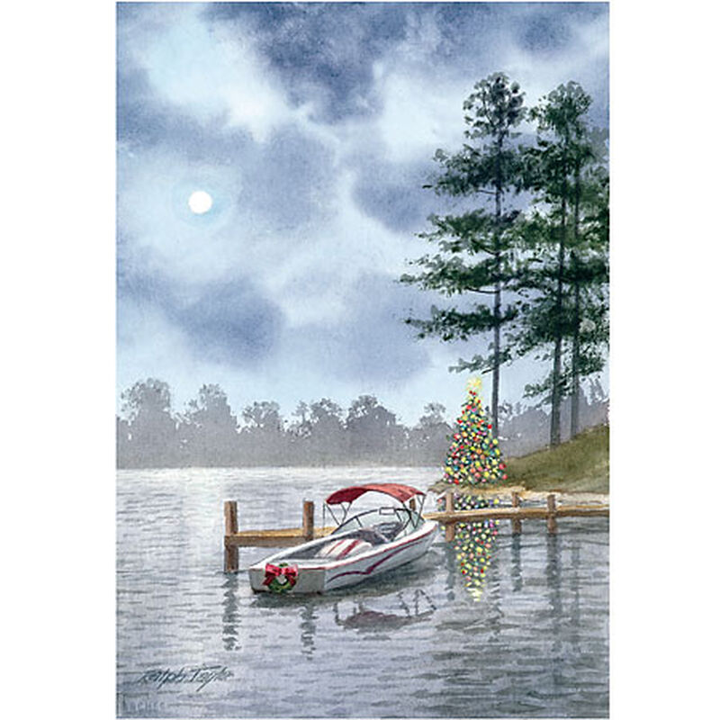 Personalized Lakeside Serenity Christmas Cards image number 1