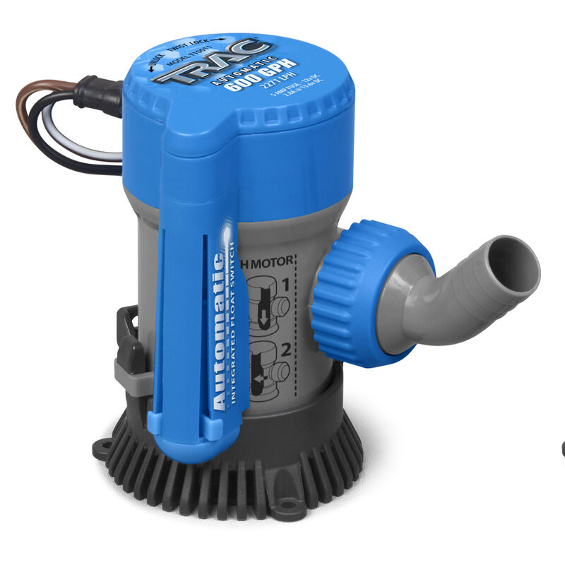TRAC Submersible Automatic 600 GPH Bilge Pump image number 1