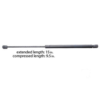 """Black Powder-Coated Gas Lift Springs - 15""""L extended, withstands 40 lbs."""
