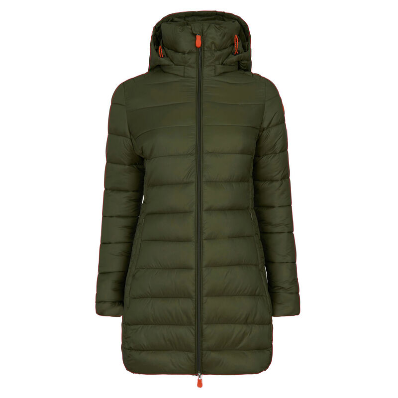 Save The Duck Women's Giga Long Quilted Winter Coat image number 2