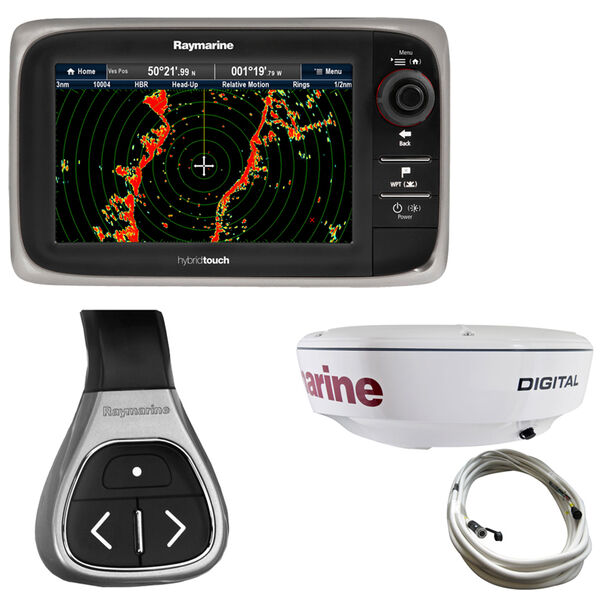 "Raymarine e7D MFD With NOAA Vector Charts And 18"" RD418D Dome Radar"