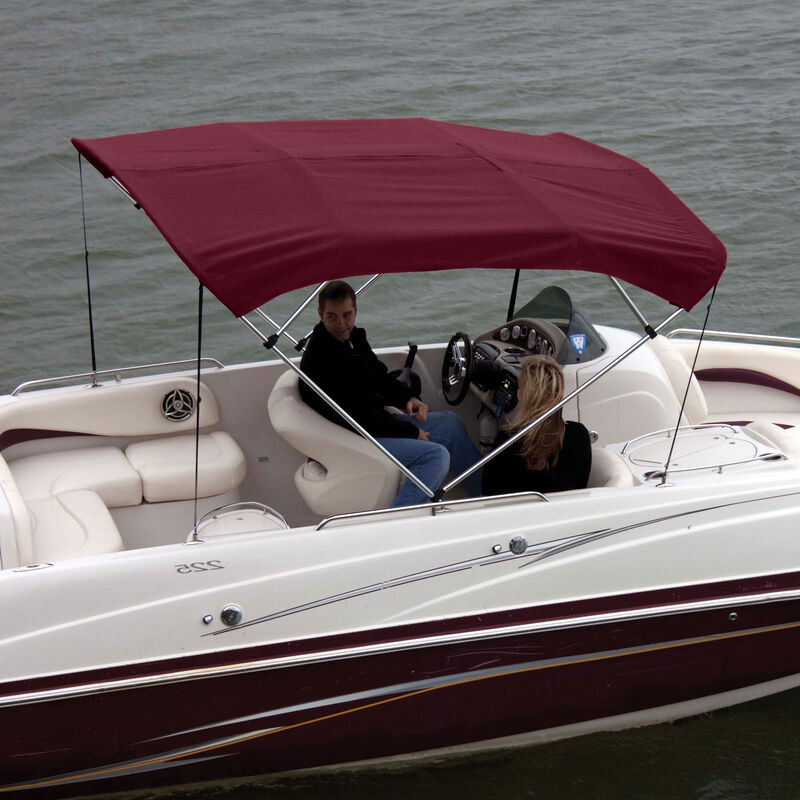 """Shademate Polyester 4-Bow Bimini Top, 8'L x 54""""H, 73""""-78"""" Wide image number 1"""
