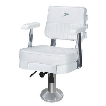 "Wise Ladder Back Helm Chair w/12""-18"" Adjustable Pedestal and Seat Slide"