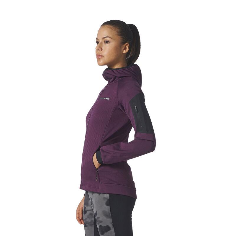 Adidas Women's Terrex Stockhorn Fleece Full-Zip Hoodie image number 6