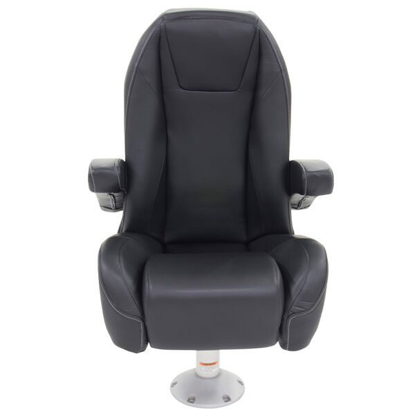 Mid Back Recliner Premium Pontoon Helm Seat with Flip-Up Bolster