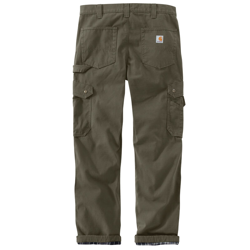 Carhartt Men's Ripstop Cargo Work Flannel-Lined Pant image number 8