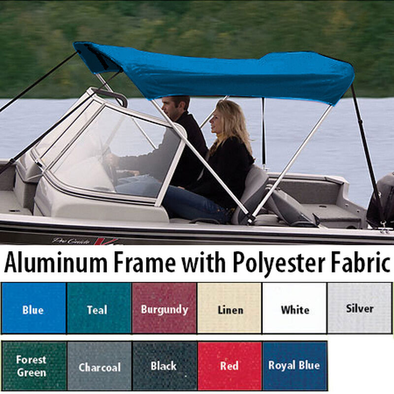 """Shademate Polyester 2-Bow Bimini Top, 5'6""""L x 42""""H, 61""""-66"""" Wide image number 1"""