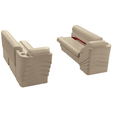 Toonmate Premium Pontoon Furniture Lounge And Lean-Back Package, Mocha