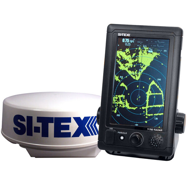 """Si-Tex T-760 Compact Color Radar With 4kW 18"""" Dome"""