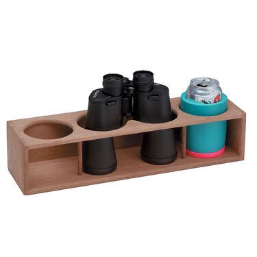 SeaForce Teak Four Insulated Drink/Binocular Rack