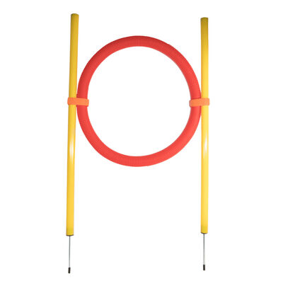 Pet Life Hoop Hopper Collapsible Agility Dog Trainer Kit, One Size Yellow
