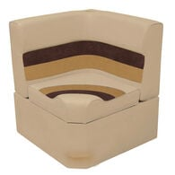 Toonmate Deluxe Radiused Corner Section Seat with Toe Kick Base, Sand