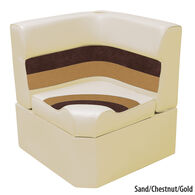 Toonmate Deluxe Radiused Corner Section Seat w/Classic Base (no toe kick), Sand