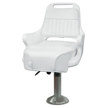 "Wise Ladder Back Pilot Chair w/15"" Fixed Pedestal and Seat Slide"