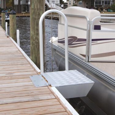 Dockmate Folding Access Platform With Safety Handrail