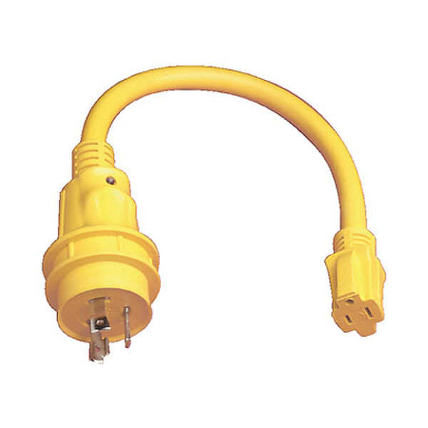 Marinco Pigtail Adapter, 15/30-Amps (125V)