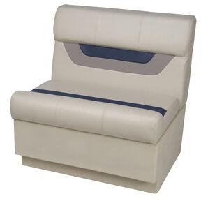 "Toonmate Designer Pontoon 27"" Wide Bench Seat - TOP ONLY - Platinum/Midnight/Mocha"